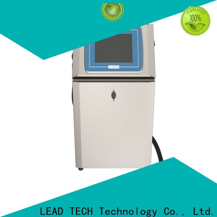 Leadtech Coding commercial laser expiry date printing machine factory for beverage industry printing