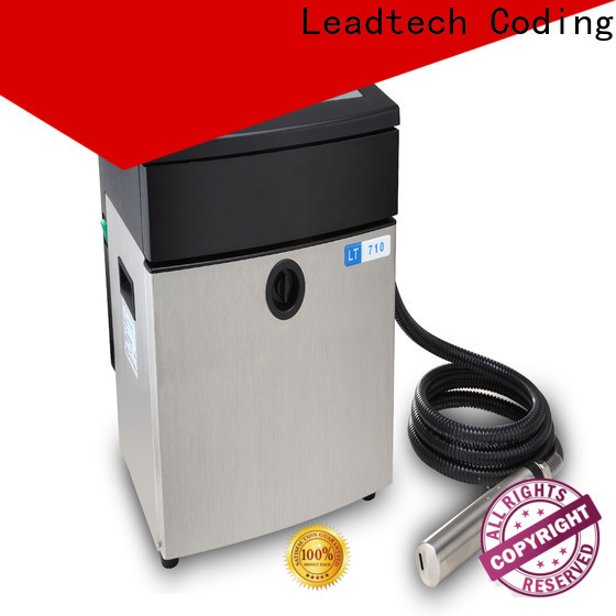 Leadtech Coding dust-proof mrp and expiry date printing machine Supply for drugs industry printing