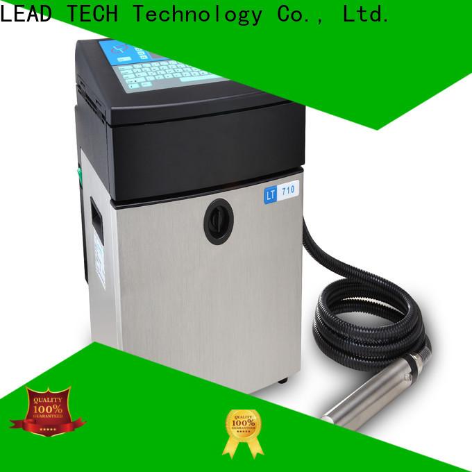 Leadtech Coding innovative ribbon batch coding machine custom for tobacco industry printing