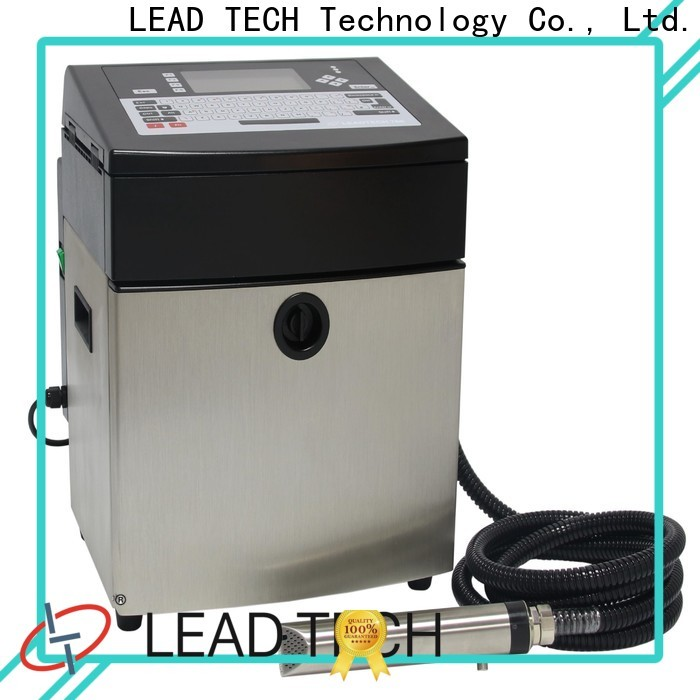 Leadtech Coding innovative inkjet date coder factory for pipe printing