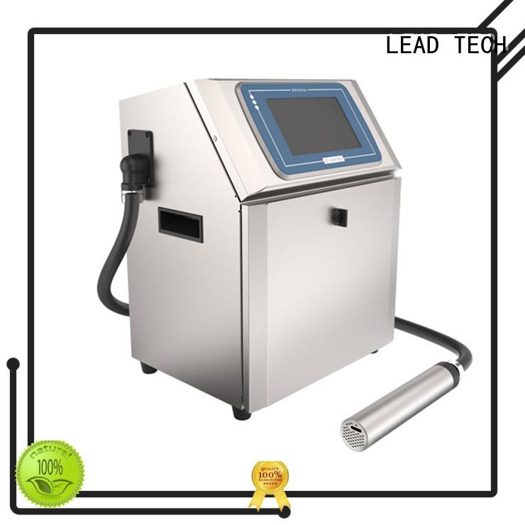 LEAD TECH bulk inkjet batch coding machine from best fatcory