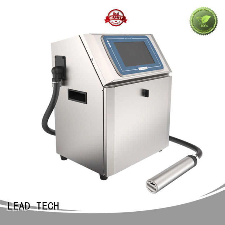 LEAD TECH inkjet batch coding machine OEM aluminum structure