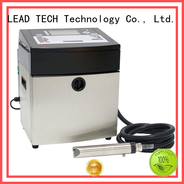 LEAD TECH bulk inkjet date code printer good heat dissipation aluminum structure