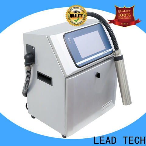 LEAD TECH inkjet bottle printer easy-operated for daily chemical industry printing