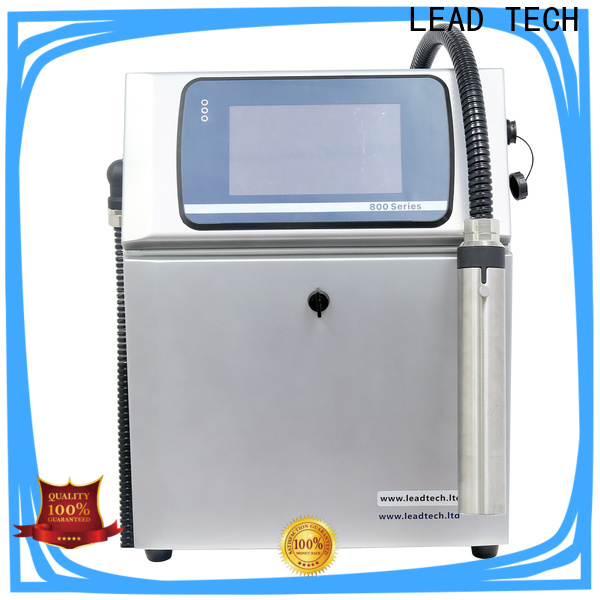 LEAD TECH inkjet printer history custom for auto parts printing