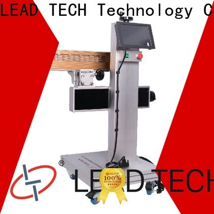 LEAD TECH co2 laser etching fast-speed for pipe printing