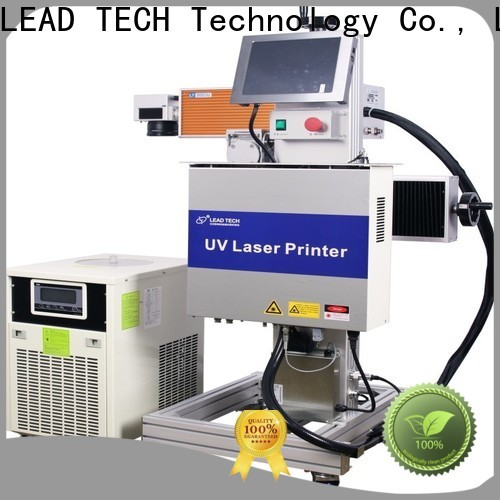 LEAD TECH laser printing machine on plastic easy-operated for food industry printing