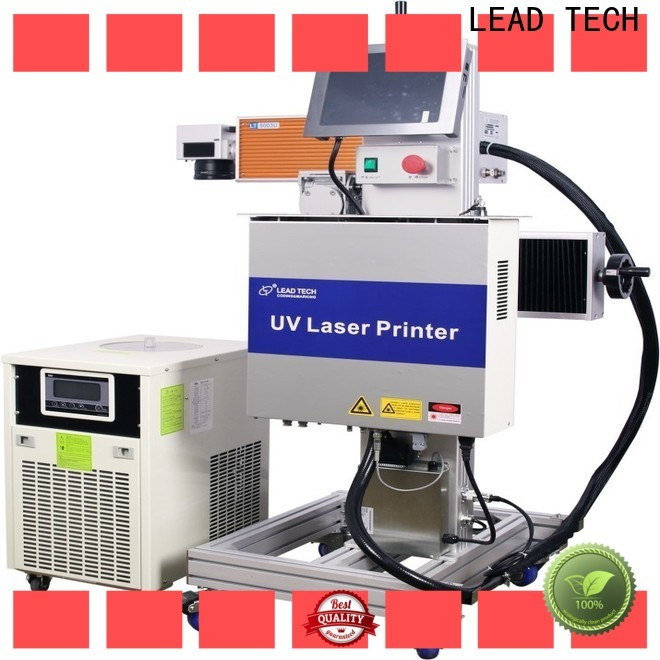 LEAD TECH New laser coding machine price high-performance for drugs industry printing