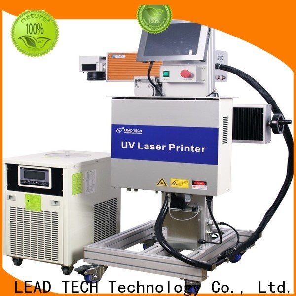 LEAD TECH gold laser marking machine easy-operated for tobacco industry printing