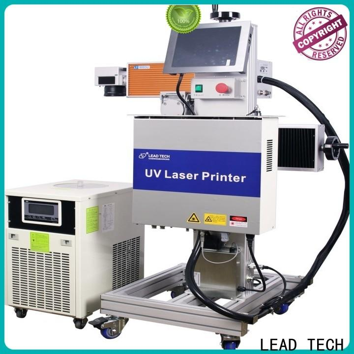 LEAD TECH water cooling structure batch code printer easy-operated for pipe printing