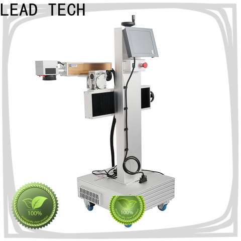 LEAD TECH fiber laser marking machine supplier easy-operated for beverage industry printing