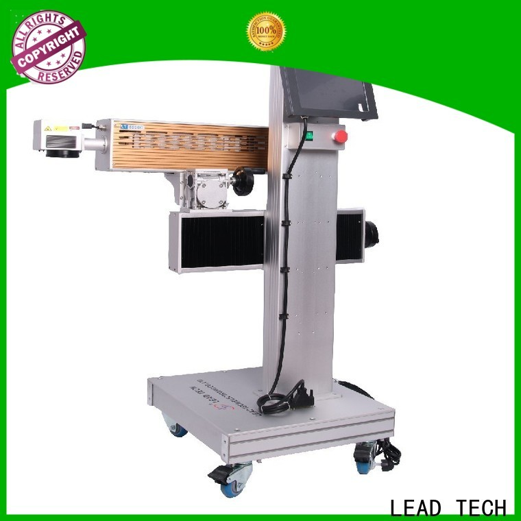 LEAD TECH Best co2 laser marking machine high-performance for building materials printing
