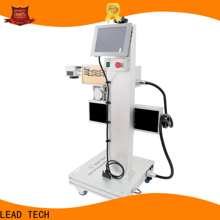 LEAD TECH Top fiber laser marker price fast-speed for tobacco industry printing