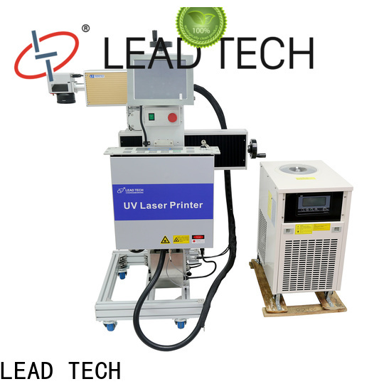 LEAD TECH small laser marking machine easy-operated for pipe printing