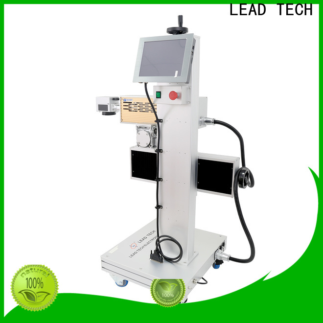 LEAD TECH portable laser marking machine price fast-speed for food industry printing