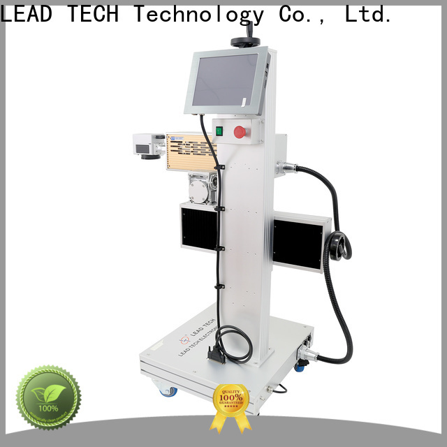 LEAD TECH gold laser marking machine price fast-speed for tobacco industry printing