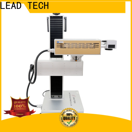 LEAD TECH aluminum structure gold laser marking machine fast-speed for drugs industry printing