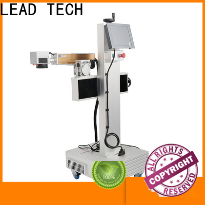 LEAD TECH portable laser etching machine promotional for food industry printing
