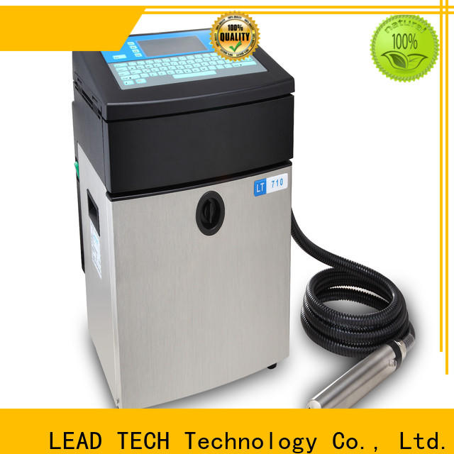 LEAD TECH Custom inkjet printer test easy-operated for tobacco industry printing
