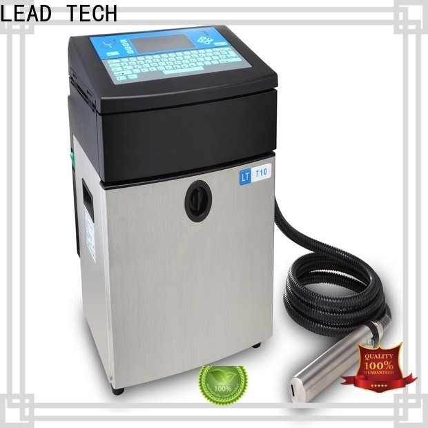 LEAD TECH commercial best continuous ink printer for auto parts printing