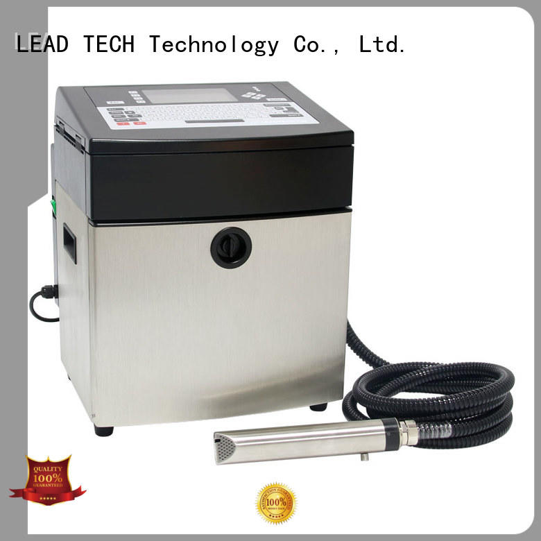 LEAD TECH inkjet printer for batch coding good heat dissipation from best fatcory