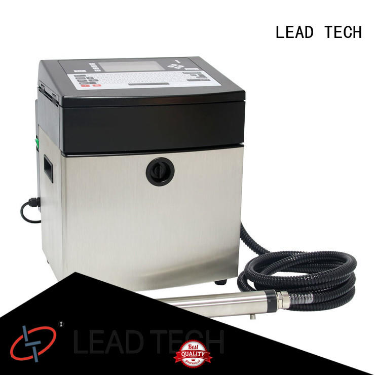 LEAD TECH hot-sale continuous inkjet printer easy-operated cooling structure