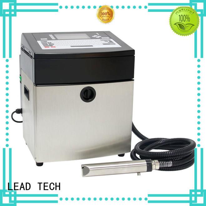 LEAD TECH inkjet coding printer good heat dissipation from best fatcory