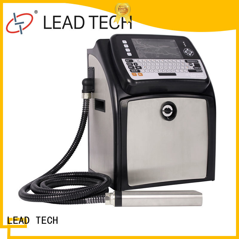 LEAD TECH dust-proof best continuous ink printer OEM cooling structure