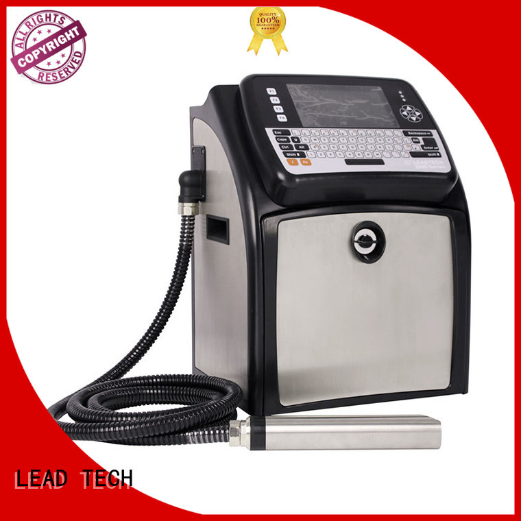 LEAD TECH continuous ink printer with scanner high-performance for food industry printing