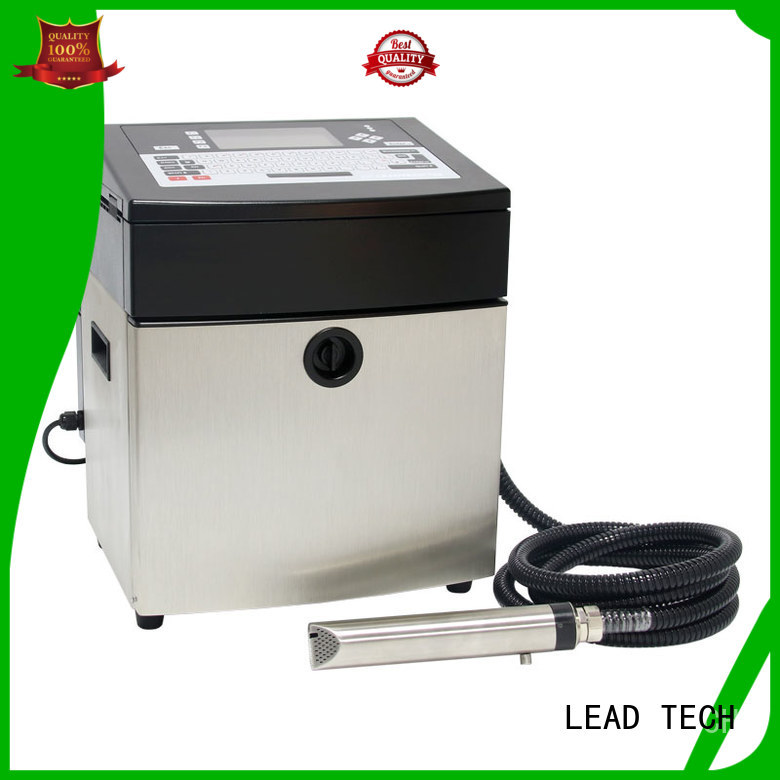 LEAD TECH Best cheapest continuous ink printer high-performance for auto parts printing