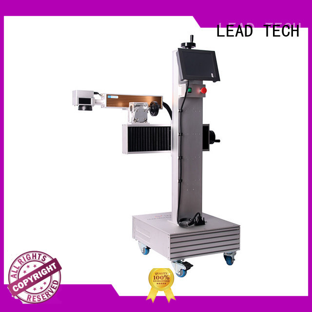 LEAD TECH water cooling structure laser logo factory for food industry printing