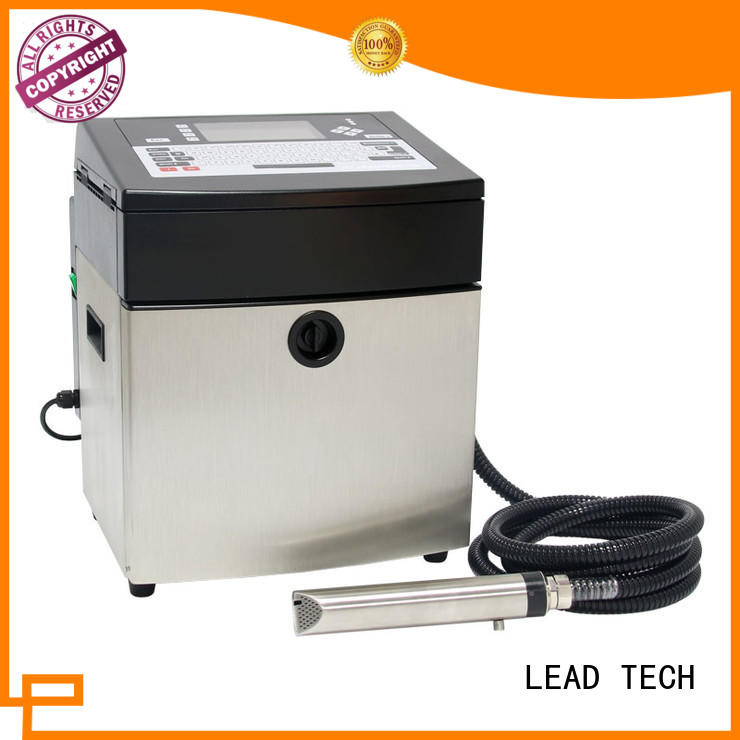 LEAD TECH dust-proof inkjet batch coding machine good heat dissipation at discount