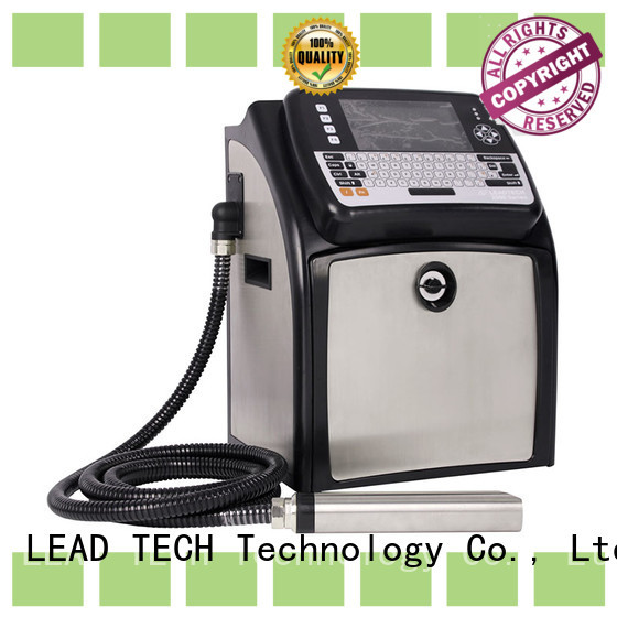 LEAD TECH inkjet batch coding machine easy-operated from best fatcory