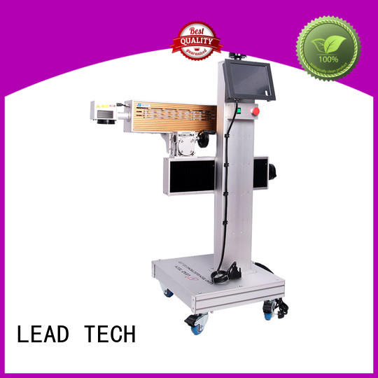 LEAD TECH aluminum structure laser marking printer for sale