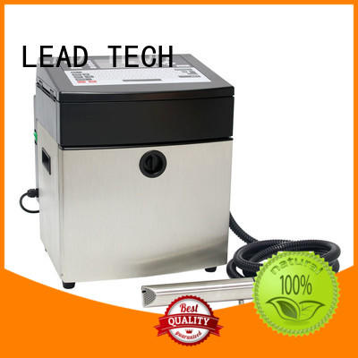 LEAD TECH commercial inkjet coding machine high-performance reasonable price