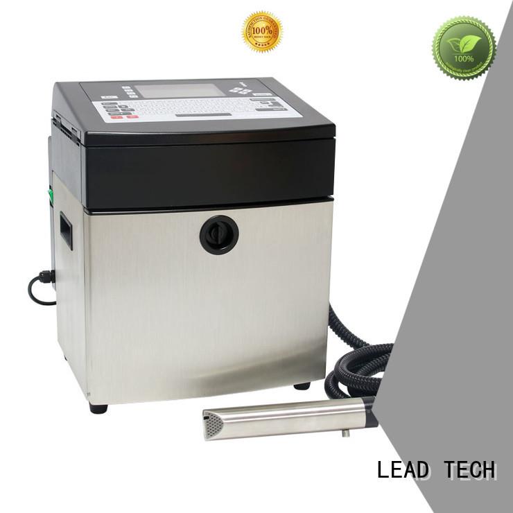 LEAD TECH innovative inkjet batch coding machine professtional cooling structure