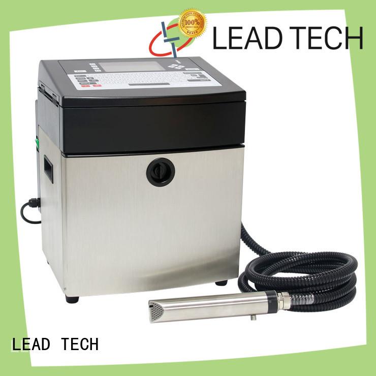 LEAD TECH inkjet batch coding machine high-performance aluminum structure