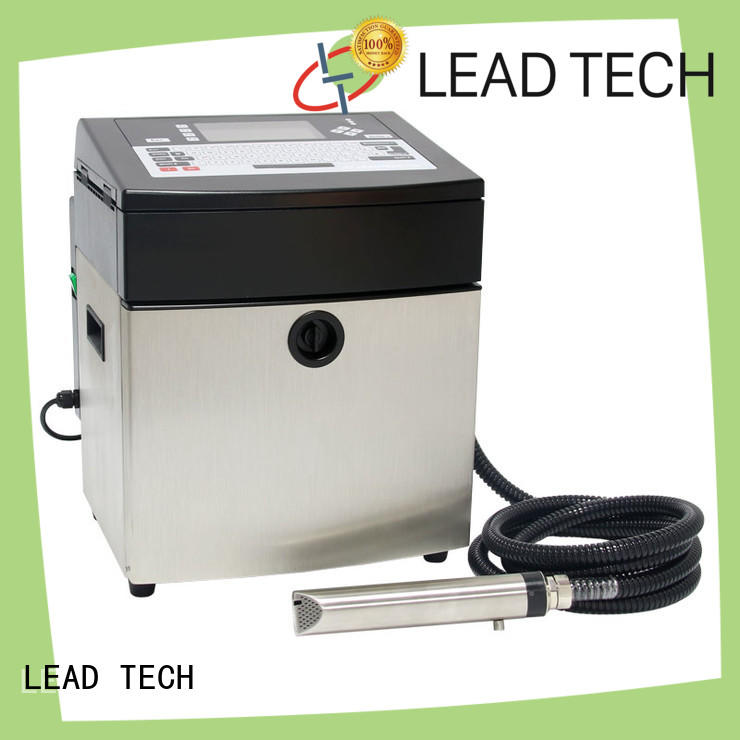 LEAD TECH inkjet batch coding machine high-performance aluminum structure