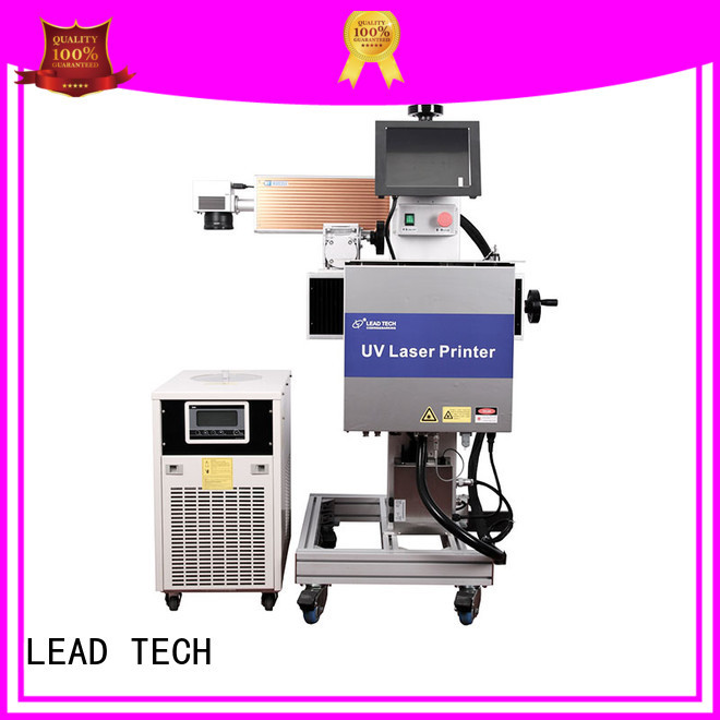 LEAD TECH water cooling structure laser marking machine easy-operated best price