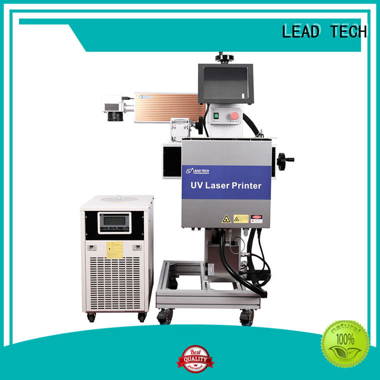 LEAD TECH commercial laser batch coding machine top manufacturer