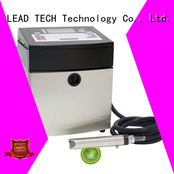LEAD TECH bulk inkjet date code printer fast-speed at discount