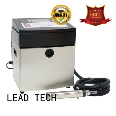 LEAD TECH innovative inkjet batch coding machine easy-operated at discount