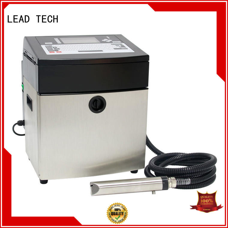 LEAD TECH inkjet date code printer fast-speed aluminum structure