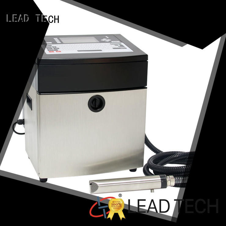LEAD TECH bulk inkjet date code printer easy-operated cooling structure